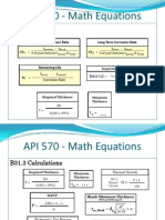 API 570 - List of Math Equations