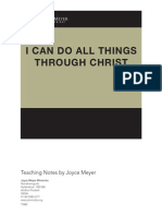 I Can Do All Things Through Christ Joyce Meyer