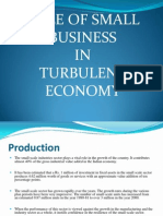 Role of Sme in Turbulent Economy