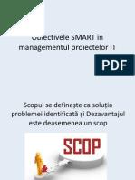 Obiectivele SMART în managementul proiectelor IT