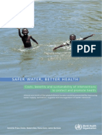 Safer Water, Better Health- Costs, Benefits and Sustainability of Interventions to Protect and Promote Health