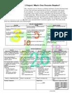Prime Time Fav Number Task Sheet
