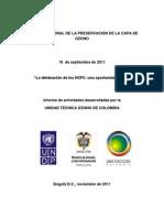Informe de Actividades Septiembre 2011 - Colombia