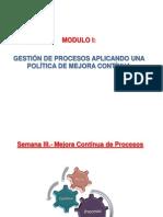 Gestión de Plantas Industriales_Semana III Mejora Contínua de los Procesos