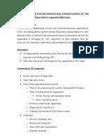 Approach Paper for Organizational Understanding Of