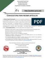 Convocatoria de la  Revista Paideia Puertorriqueña
