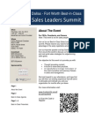 Fort Worth Best-in-Class Sales Leaders Summit