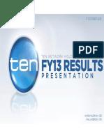 TEN FY 2013 Full Year Results Presentation