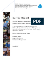 Social Assessment for the Jakarta OBA Project