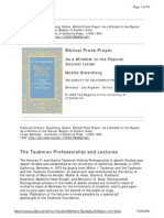 (WAM) Biblical Prose Prayer - As a Window to the Popular Religion of Ancient Israel - Moshe Greenberg