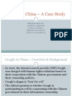 Google in China - A Case Study