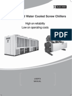 Blue Star Chiller Air & Water Cooled Screw Chiller R22 DX Manual