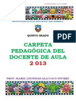 Carpeta Pedagógica-5 GRADO-2013-GRAU-ISABEL ALLCCACO111