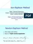 The Newton Raphson Method