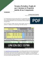 Calcolo Trasmittanza Termica Periodica UNI en ISO 13786