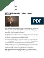Cynthia Cooper Interivew