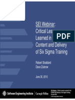 01 Critical Lessons Learned in the Content and Delivery of Six Sigma Training