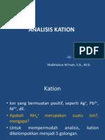 ANALISIS KATION