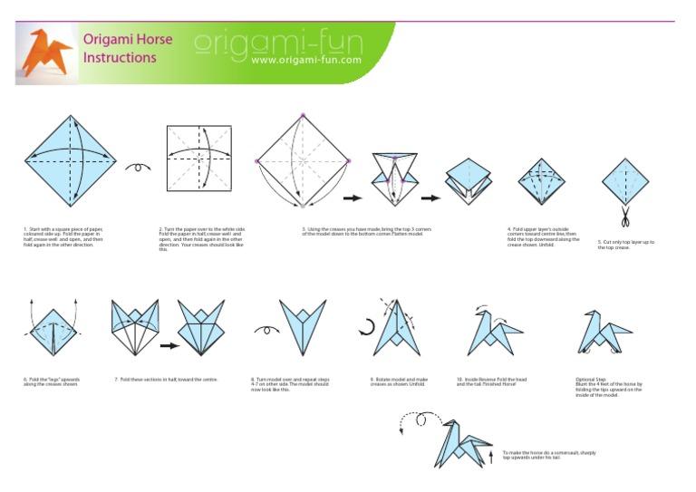 Origami Horse Printpdf