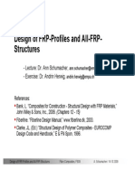Design of FRP-Profiles and All-FRP-Structures