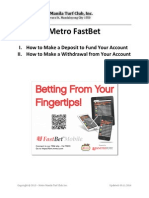 Metro FastBet - How to Deposit or Withdraw