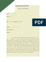 Aviso de Despedidamodelocarta Notarial