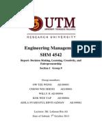 decision making (PUMA) - Engineering management.docx