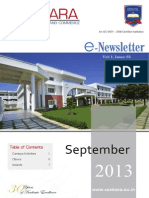 E-Newsletter, September-2013 Vol-1, Issue-3