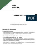 Manual Propietario Honda Cb600fa 2007