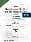 """M.Dv.190/4A4"" Munitionsvorschriften fur die Kriegsmarine (Artillerie) - 1941"