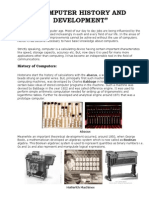 Historical Development of Computers