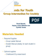 Paula Barrett Friends for Youth a Group Intervention for Anxiety Presentation NASBHC