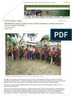 """Free Burma Rangers -- Reports- Evidence of Burma Army extortion demands on villagers facing food"