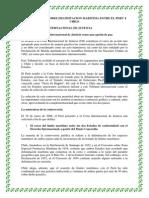 Controversia Sobre Delimitacion Maritima Entre El Peru y Chile