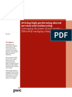 Pwc Driving High Performing Shared Services Outsourcing