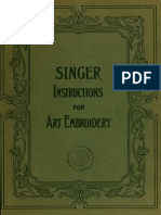 Singer Instructions for Art Embroidery