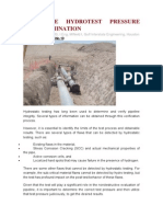 Pipeline Hydrotest Pressure Determination