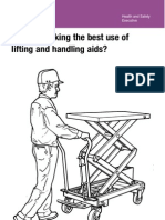 Use of Lifting and Handling Aids