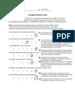 prealgebrareflectionsheet