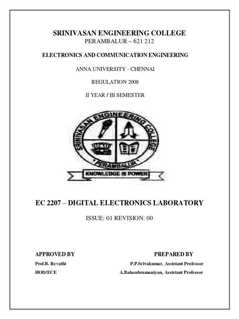 Digital Electronics Lab Master Manual1 | Digital Electronics | Electronic  Circuits