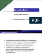 Aula1 - Conjuntos Númericos