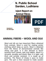 ANIMAL FIBERS – WOOL AND SILK