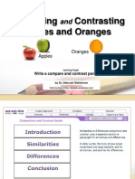 Compare and Contrast Apples to Oranges