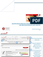 Registrar derechos de autor y derechos conexos de una obra registrada en Safe Creative