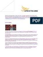 Letter of the Lords - October 18, 2013