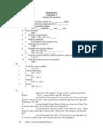 Test Paper for Mathematics