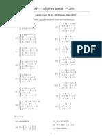 Algebra Exercicios