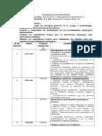 PLANIFICACIÓN DOCENTEPATOLOGIA Y TERAPEUTICA QUIRURGICA2013-II