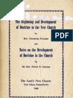 Theodore Pitcairn & Philip N Odhner DEVELOPMENT OF DOCTRINE TheLord'sNewChurch BrynAthyn 1968