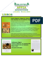 Biblioteca APPIA - Adquisiciones Set-oct 2013